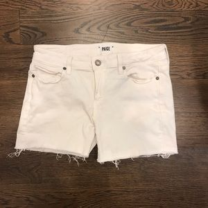 White Paige jean shorts 29